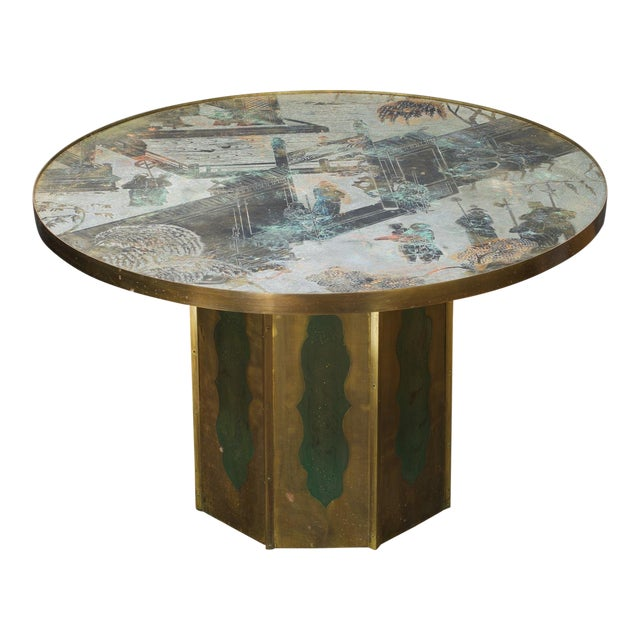 1960s Chinoiserie Kelvin LaVerne Bronze Chan Coffee Table For Sale