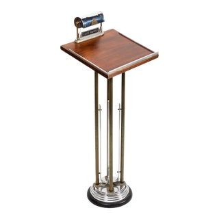 1930s Art Deco Funeral Register Podium With Lamp For Sale