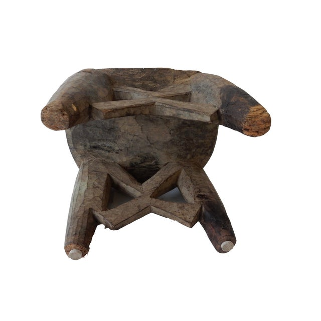 Senufo Carved Milk Stool - Image 6 of 6