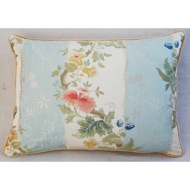 Scalamandre Silk Lampas Pillows - A Pair - Image 4 of 11