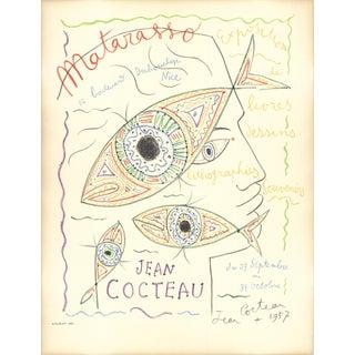 "Jean Cocteau Matarasso 24.75"" X 19"" Lithograph 1957 For Sale"