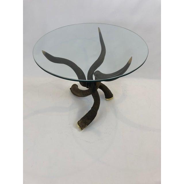 Organic Handmade Kudo Horn Based Coffee Table For Sale - Image 12 of 12