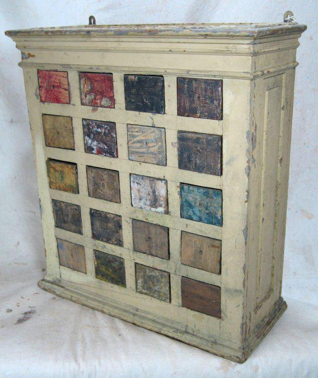 Bon Rustic Shabby Chic Pigment Storage Cabinet For Sale   Image 3 Of 11