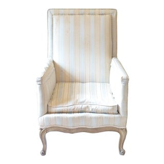 French Upholstered Bergere Chair For Sale