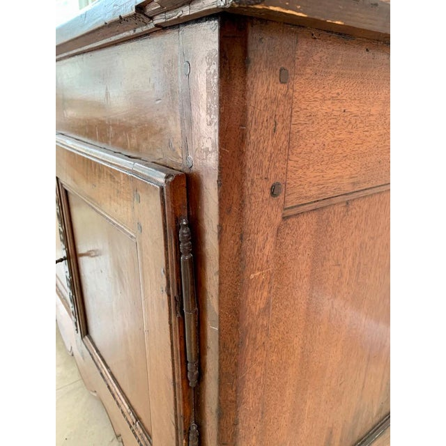 Wood Antique Rustic French Walnut Buffet For Sale - Image 7 of 13