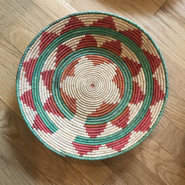 1970s African Flat Baskets - Set of 3 For Sale - Image 4 of 6