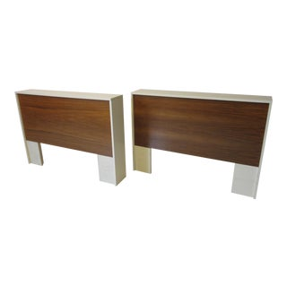 70's Twin or King Walnut Lacquer Headboard For Sale