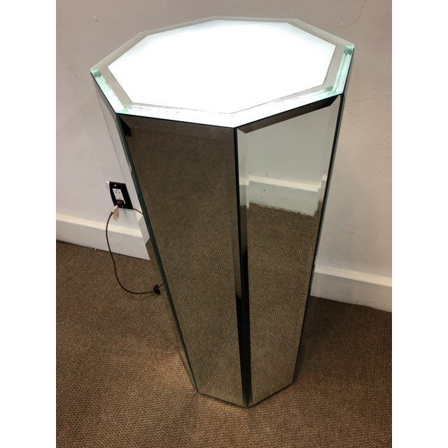 Lovely Mirrored Pedestal a perfect piece decoration for a Modern House