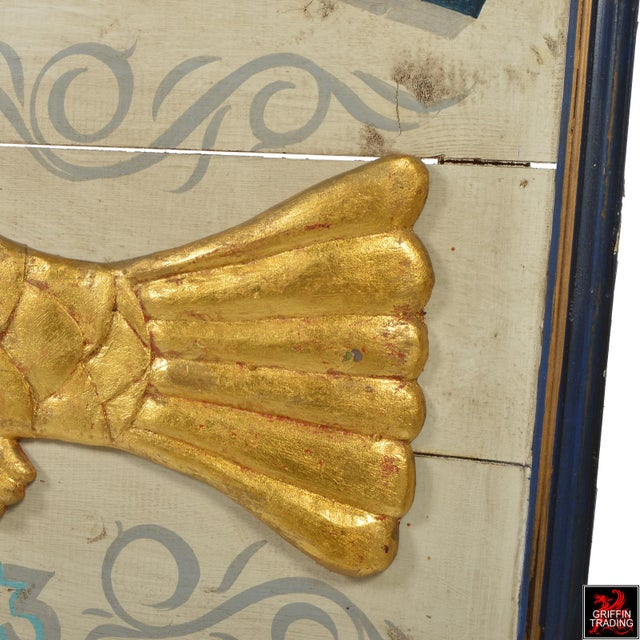 Gold East Bay Fish Packing Company Trade Sign For Sale - Image 8 of 11
