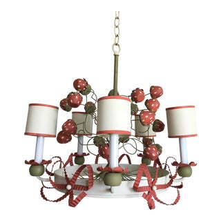 Tole Strawberries Chandelier For Sale