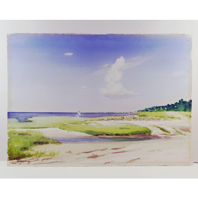 Rock Beach, Cape Cod Watercolor Painting For Sale - Image 4 of 5
