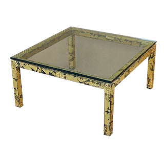 Silas Seandel Textured Gilt Steel Coffee Table For Sale