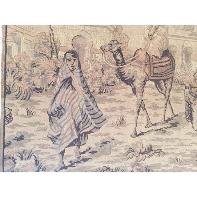 Mid 20th Century Tapestry With an 19th Century Orientalist Scene and Moorish Architecture For Sale - Image 5 of 10