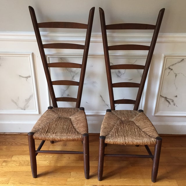 Rare Italian Vintner Chairs - A Pair - Image 2 of 6