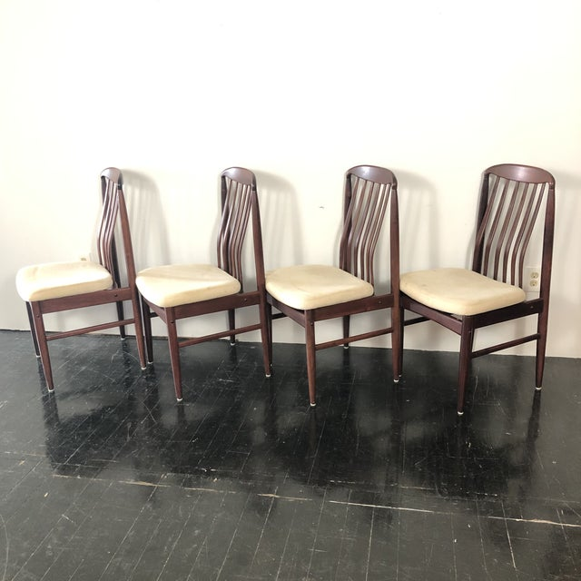 Mid-Century Modern 1970s Benny Linden Rosewood Dining Chairs - Set of 4 For Sale - Image 3 of 5