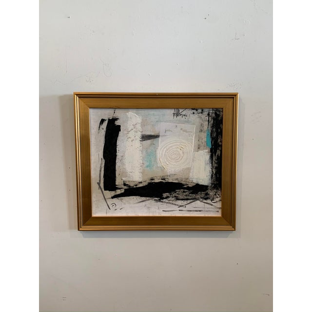 1960s Graham Harmon Oil Painting W/Gold Frame For Sale In Los Angeles - Image 6 of 6