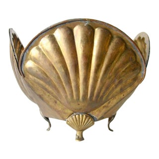 Vintage Brass Shell Bowl For Sale