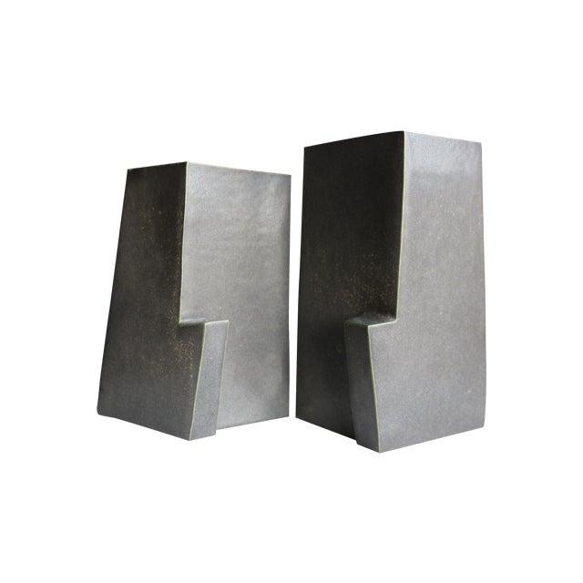 Architectural Ceramic Vases - A Pair - Image 1 of 10