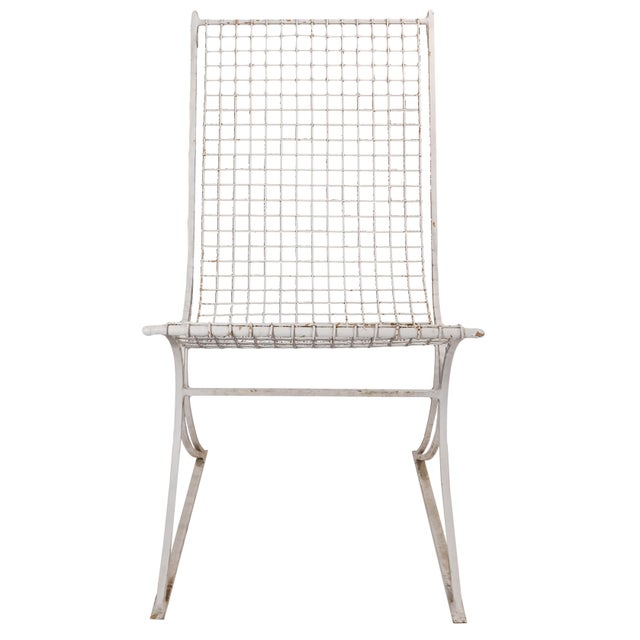 Mid-Century Modern Salterini Mid-Century Modern White Metal Chairs - Set of 4 For Sale - Image 3 of 13