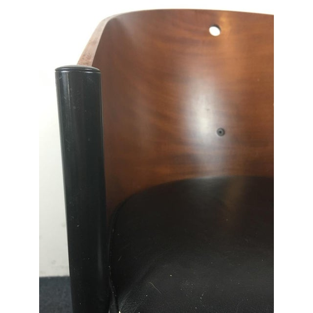 Aleph by Philippe Starck Cherry & Leather Chair - Image 3 of 6