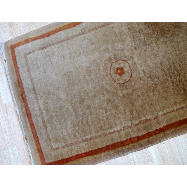 1970s, Handmade Vintage Art Deco Chinese Rug 2.1' X 3.2' For Sale - Image 4 of 8