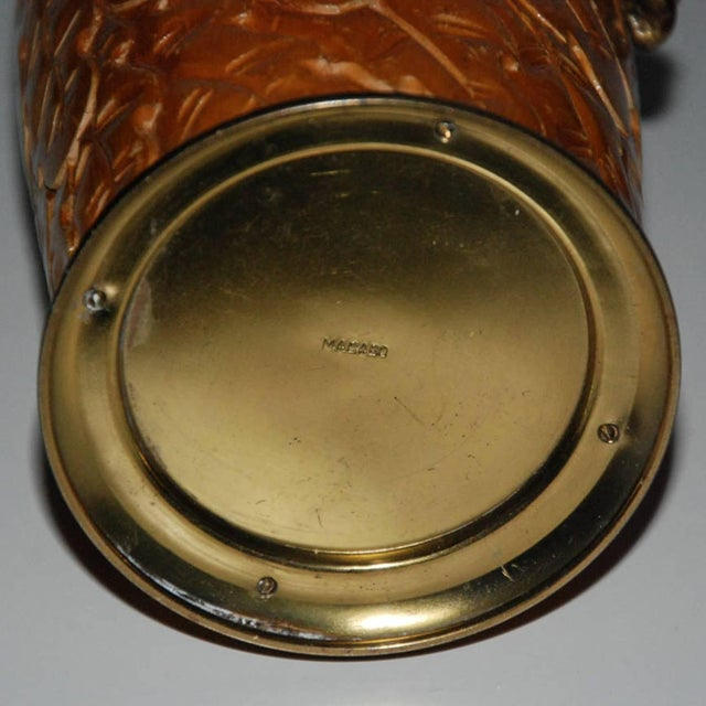 Aldo Tura Wood & Brass Decanters - A Pair For Sale - Image 5 of 11