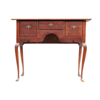 Queen Anne Period Walnut Lowboy For Sale