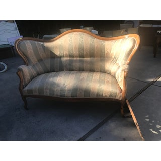 Late 19th Century Antique European Victorian Fruitwood Sofa Preview