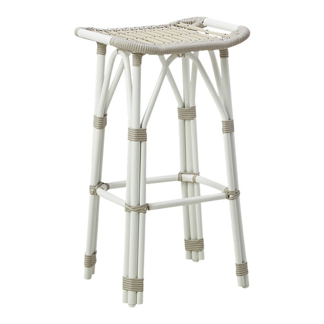 Salsa Exterior Counter Stool - Dove White For Sale