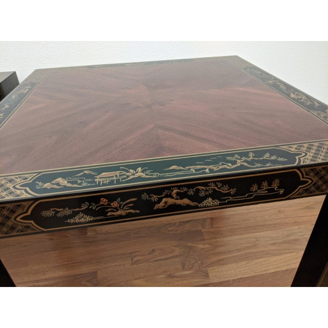 1980s Chinoiserie Console Table & Side Tables, Set of 3 (Drexel - Et Cetera Collection) For Sale - Image 12 of 13
