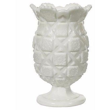 1960s White Glass Blocked Vase - Image 1 of 2