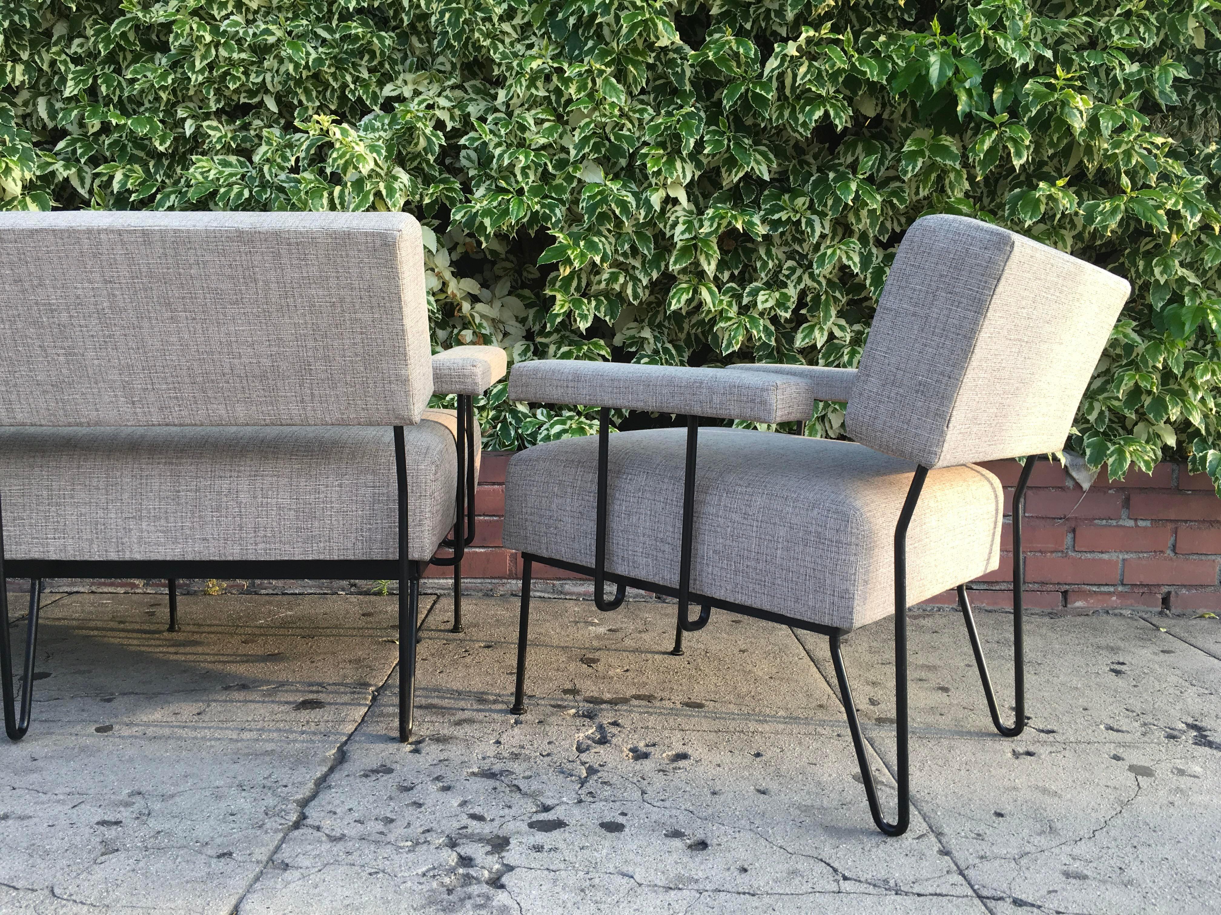 1950u0027s Inco Co. Iron Loveseat U0026 Chair   A Pair   Image ...