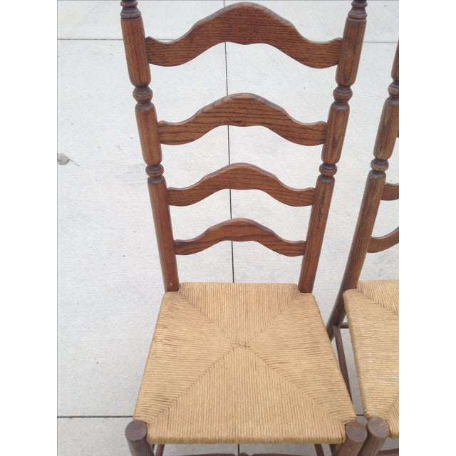 Vintage Tall Ladder Dining Chairs - Set of 4 - Image 9 of 10