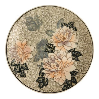 Chinoiserie Decorative Lotus Flower Plate For Sale