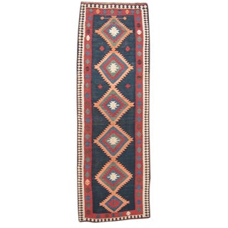 Antique Azeri Kilim Runner