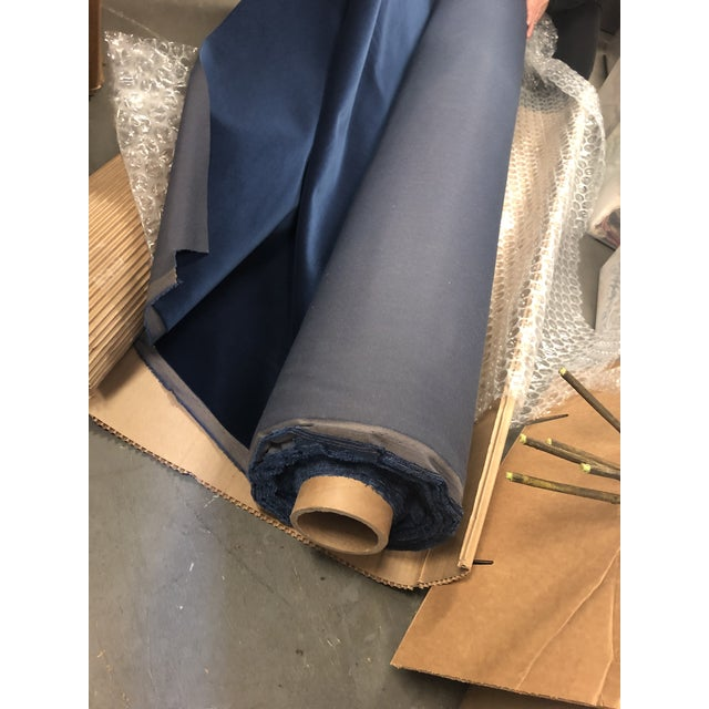 Holly Hunt Aqua Velvet III Neptune Fabric - 19 Yards For Sale - Image 11 of 12