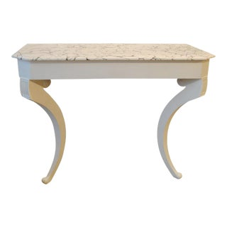 Wall Mount Console with Marbleized Top