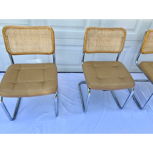 1980s Bauhaus Wicker and Chrome Dining Set - 5 Pieces For Sale - Image 10 of 13
