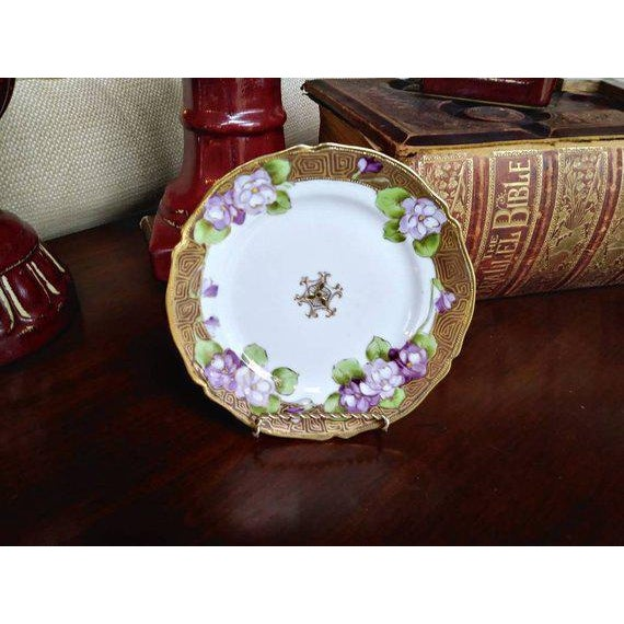 19th Century French Limoges Art Deco Plate For Sale - Image 9 of 10