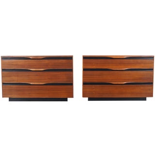 Mid Century Walnut Chest of Drawers by John Kapel For Sale