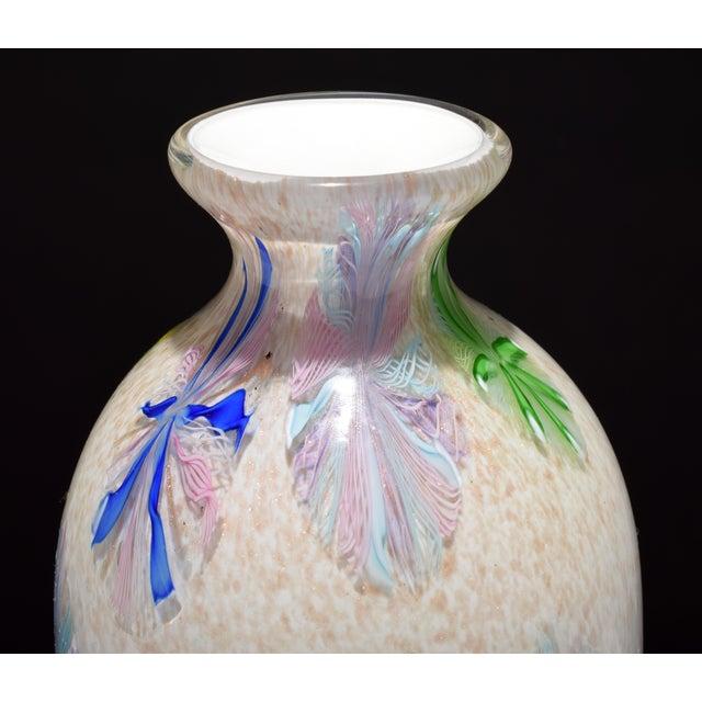 Dino Martens Vintage Dino Martens Pinwheel Design Vase, Provenance Lobel For Sale - Image 4 of 9