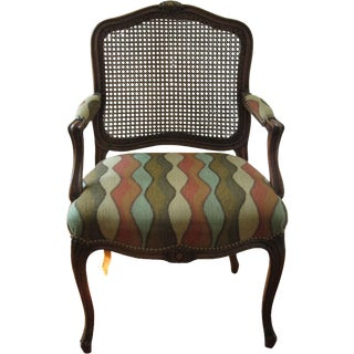 Louis Style Carved Walnut Armchair For Sale