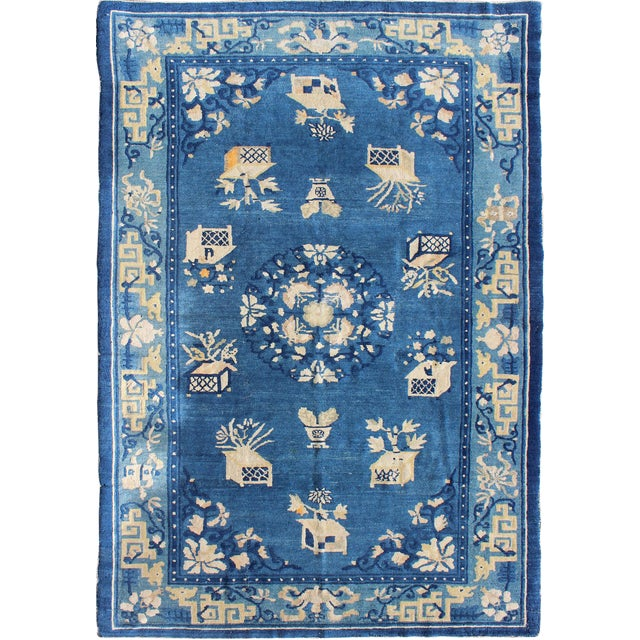 Antique Chinese Peking Rug-5' X 7'9 For Sale