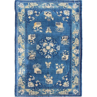 Keivan Woven Arts, 16-1201, Antique Chinese Peking Rug-5' X 7'9 For Sale