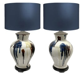 Image of Newly Made Navy Blue Table Lamps