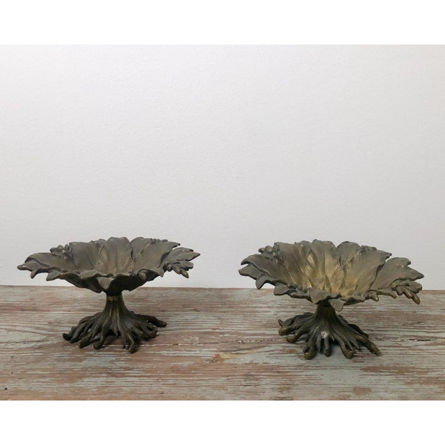 19th Century Napoleon III Bronze and Brass Tazzas - a Pair For Sale In San Francisco - Image 6 of 6