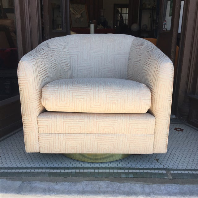 Blush Pink Mid-Century Swivel Chairs - A Pair - Image 3 of 6