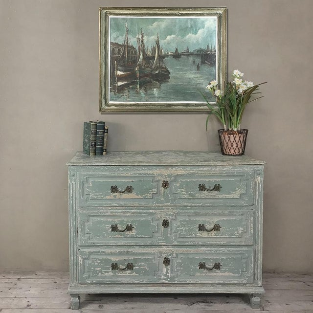18th Century Country French Painted Commode is a lovely piece that has earned a place anywhere in the home or office, due...