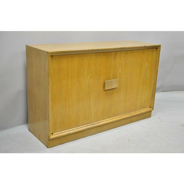 Vintage 48 Mid Century Modern Art Deco Mahogany 2 Door Storage Cabinet Credenza