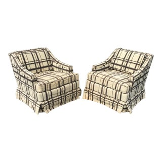 Vintage Swivel Rocking Club Chairs - A Pair